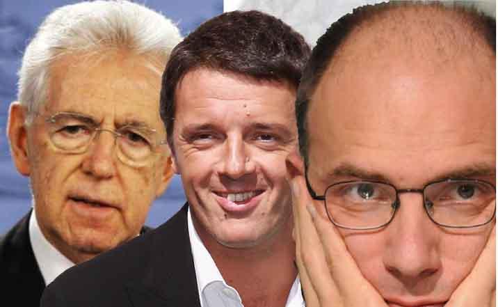 Monti, Letta, Renzi quale il miglior Governo? Il sondaggio Index Reserach per Piazza Pulita