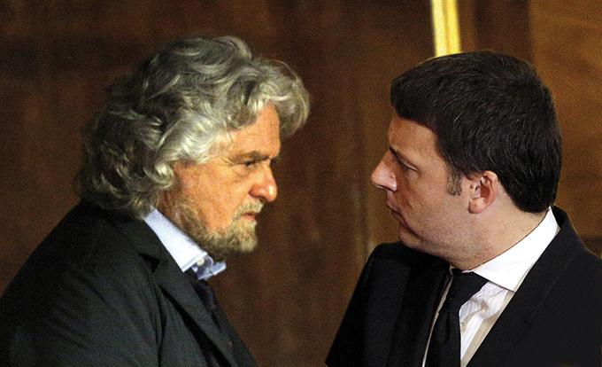 Fiducia nei leader, testa a testa tra Renzi e Grillo, i dati Index Research per In Onda